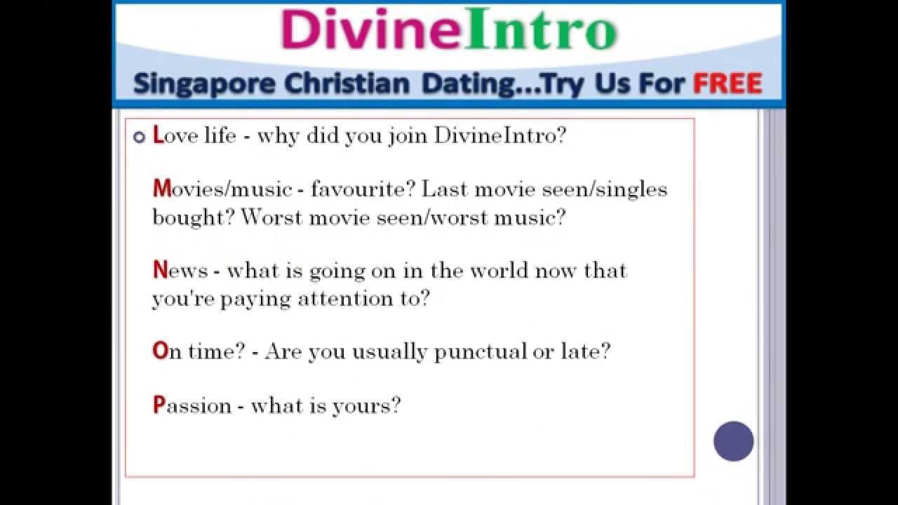 Singapore christian dating website Dating-Website weibliches Verhältnis