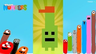 Fun Monsters Part 1 Puzzles - Dragonbox: Numbers (iPad, iPhone, Android). Fun game for kids.