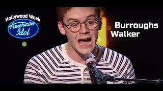 """Walker Burroughs sings """"Whereabouts"""" by Stevie Wonder at American Idol HOLLYWOOD WEEK"""