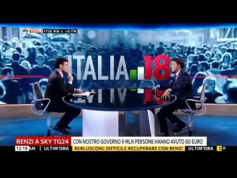 "Matteo Renzi a ""Italia 18"" su Sky TG24"