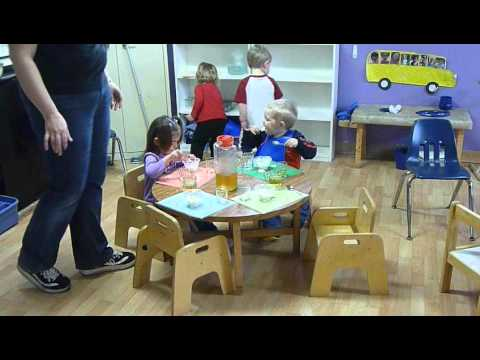 Montessori Snack Time With Table Setting Youtube