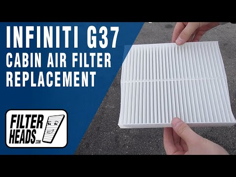How to Replace Cabin Air Filter 2013 Infiniti G37