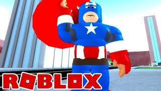 I AM CAPTAIN AMERICA ROBLOX Super Hero Tycoon