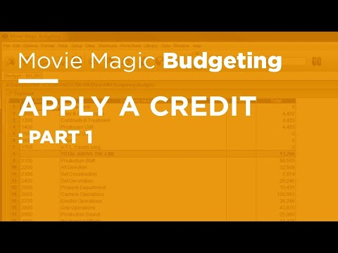 Movie Magic Budgeting - Apply a Credit: Part 1
