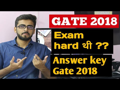 GATE 2018 Answer key | Exam Hard thi ?? | Final year computer Science projects