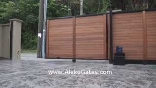 Aleko® Ac2000 Sliding Gate Opener For Sliding Gates