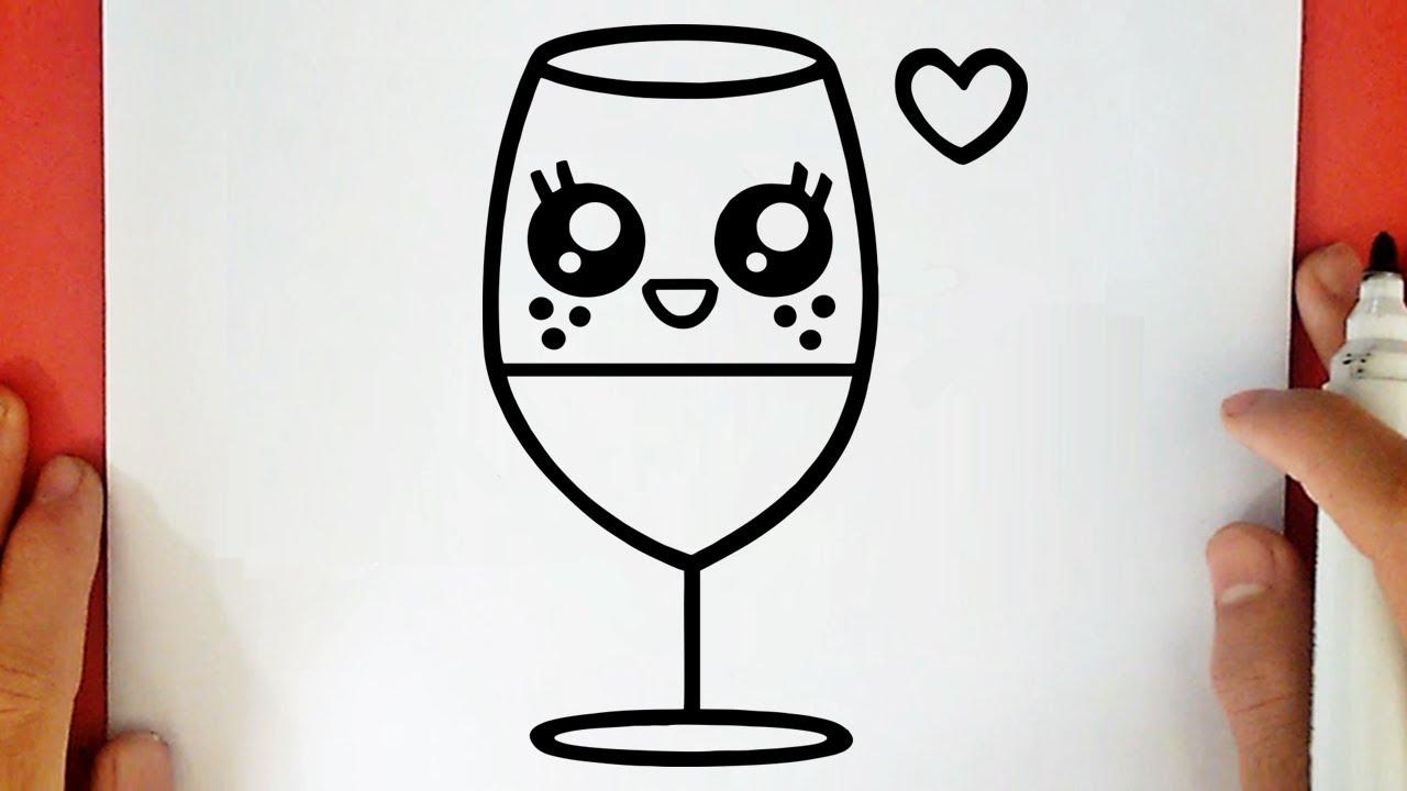 Come Disegnare Un Bicchiere D Acqua Kawaii Youtube