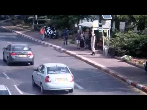 Ra'anana terror attack caught on camera