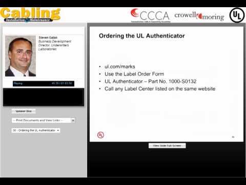 Webcast (Part 3): Non-compliant Communications Cable