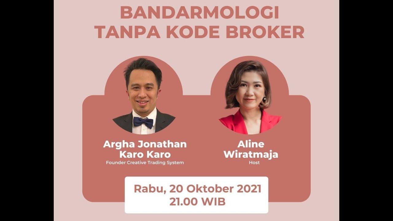 Download Bandarmologi Tanpa Kode Broker with Argha Jonatan Karo Karo