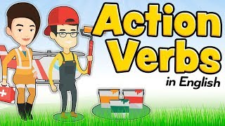 Action verbs in English for kids and beginners