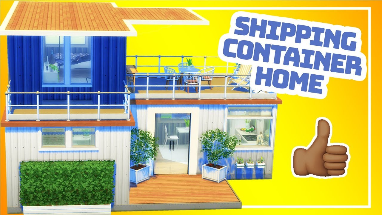The Sims 4 Tiny Build Converted Shipping Container Home