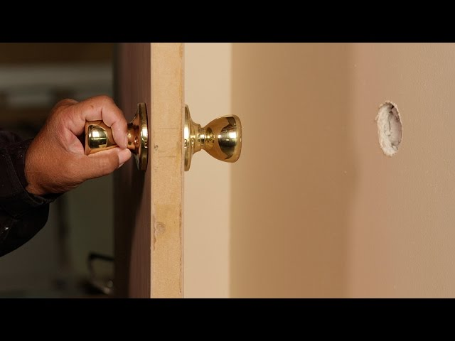 How to Repair and Prevent Doorknob Holes in Walls