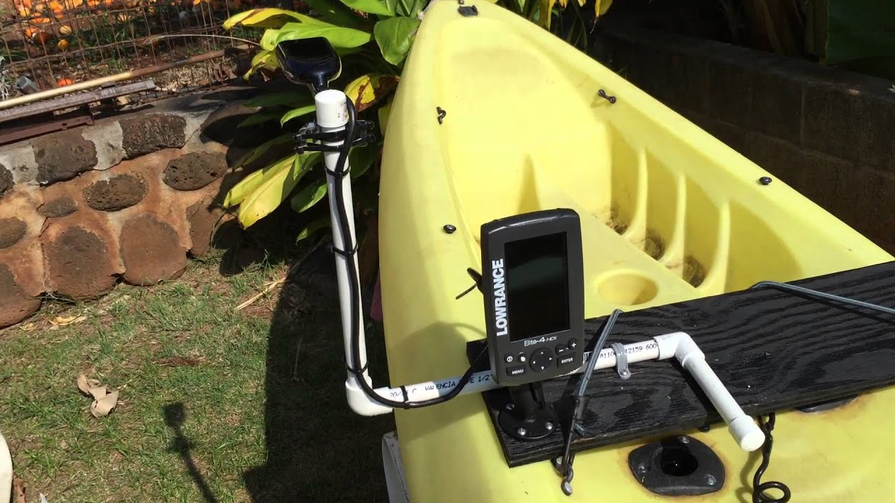 spectrum kayak removable fish finder installation youtube