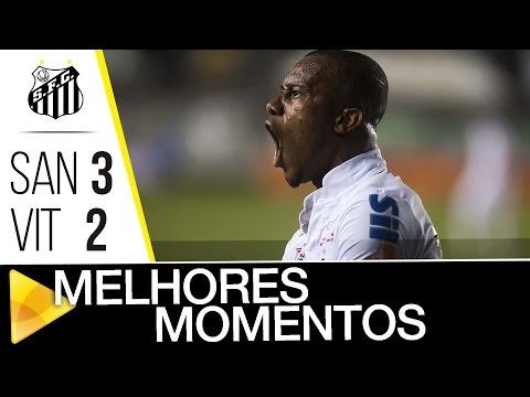 Santos 3 x 2 Vitória | MELHORES MOMENTOS | Brasileirão (17/11/16)