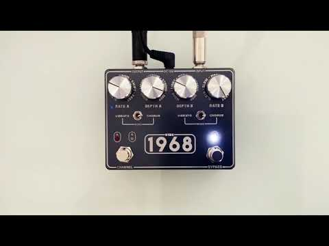 VIBE-1968 from KingTone short clip UniVibe pedal test