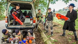 LTT Nerf War : Police Patrol SEAL X Warriors Nerf Guns Fight Criminal Group Dr Lee Hitman
