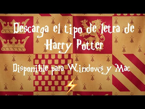 Como instalar fuente de letra de Harry Potter en Windows y Mac