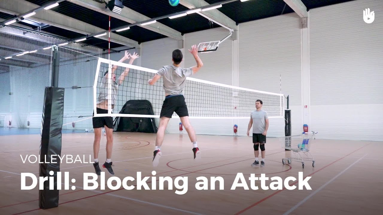 Drill Blocking An Attack Volleyball Youtube