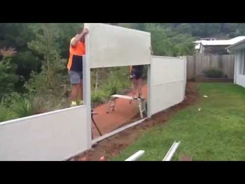 Building A Wallmark Modular Fence With Fencescape Fencing