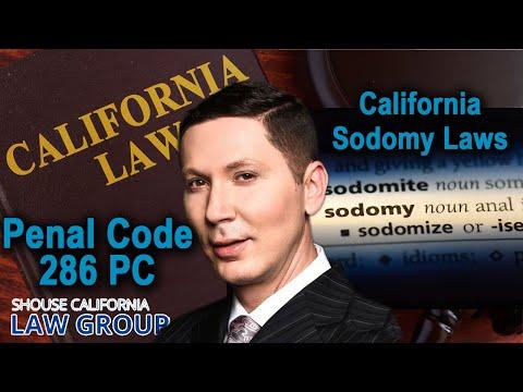 When is sodomy still illegal? (Penal Code 286)