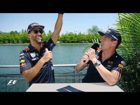 Red Bull\'s Max Verstappen And Daniel Ricciardo | F1 Grill The Grid 2017