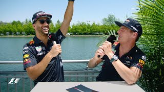 Red Bull's Max Verstappen And Daniel Ricciardo | F1 Grill The Grid