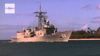 Australian Navy HMAS Newcastle (FFG 06) Arriving at Joint Base Pearl Harbor-Hickam