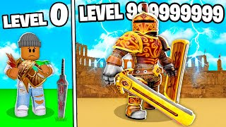 I BECAME A LEVEL 999,999,999 ROBLOX GLADIATOR