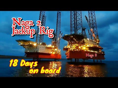 Offshore Drilling Jackup Rig Pengeboran Minyak Lepas Pantai NAGA 2