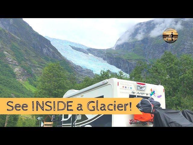 See INSIDE a Glacier!! Norway Motorhome Tour Part 3 - Wandering Bird Adventures