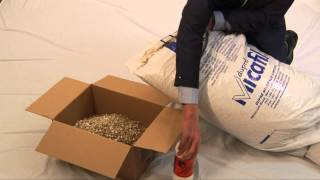 How to pack with vermiculite loose fill