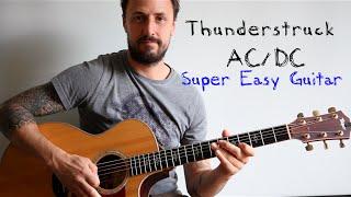 EASY GUITAR LESSON | Thunderstruck AC/DC