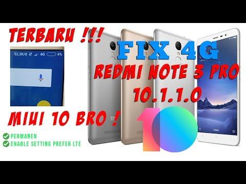 Fix 4G Permanen Redmi Note 3 Pro Kenzo Global Stable 10.1.1.0 Tanpa Root
