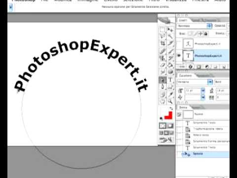 Applicare testi ai tracciati di Photoshop - YouTube