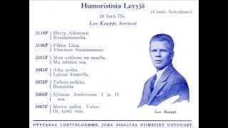 AMALIA, Leo Kauppi ja Antti Kosolan Trio v.1929
