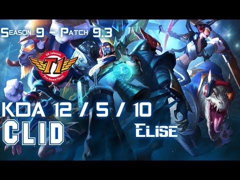 SKT Clid ELISE vs LEE SIN Jungle - Patch 9.3 KR Ranked