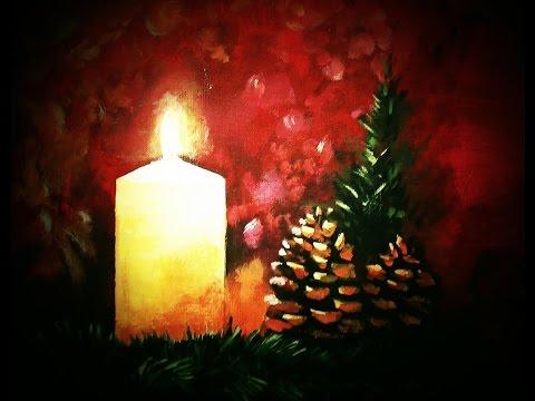 Malen mit Acryl: Kleines Weihnachtsmotiv (Teil 1/2)