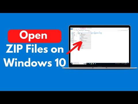 How To Open ZIP Files On Windows 10