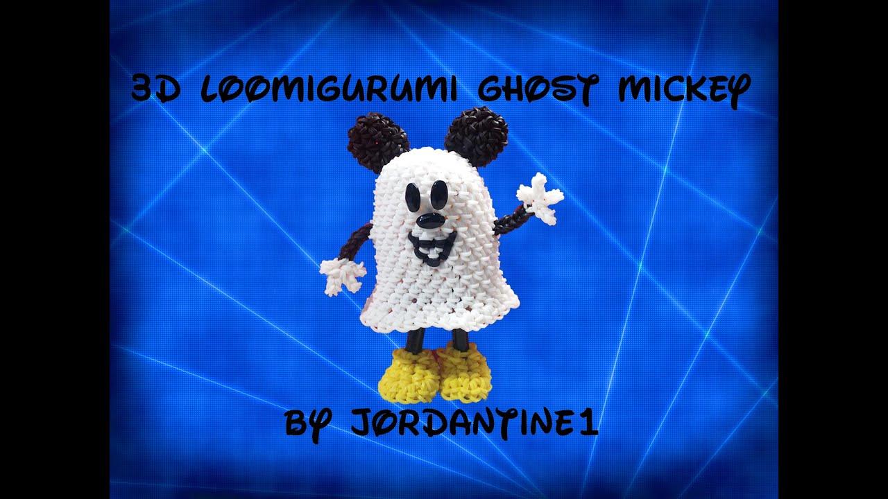 Rainbow Loom Amigurumi Mouse : New 3D Ghost Mickey Mouse - Loomigurumi / Amigurumi ...
