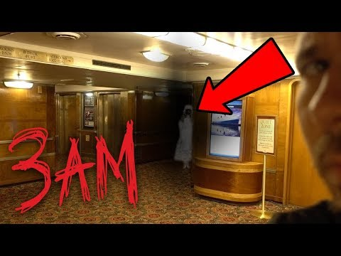 HAUNTED QUEEN MARY SHIP AT 3AM - Ghost Hunting In A Haunted Ship! | OmarGoshTV