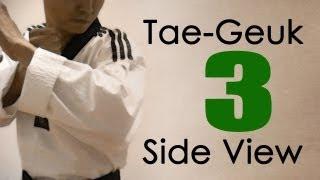 WTF Taekwondo poomsae Taegeuk 3 Jhang (Side View) 태극 3장 : taekwonwoo
