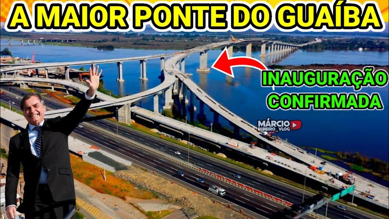 ?NOVA PONTE DO GUAÍBA-RS ABANDONADA PELO PT, BOLSONARO CONFIRMA ENTREGA EM NOV 2020 MARCO HISTÓRICO