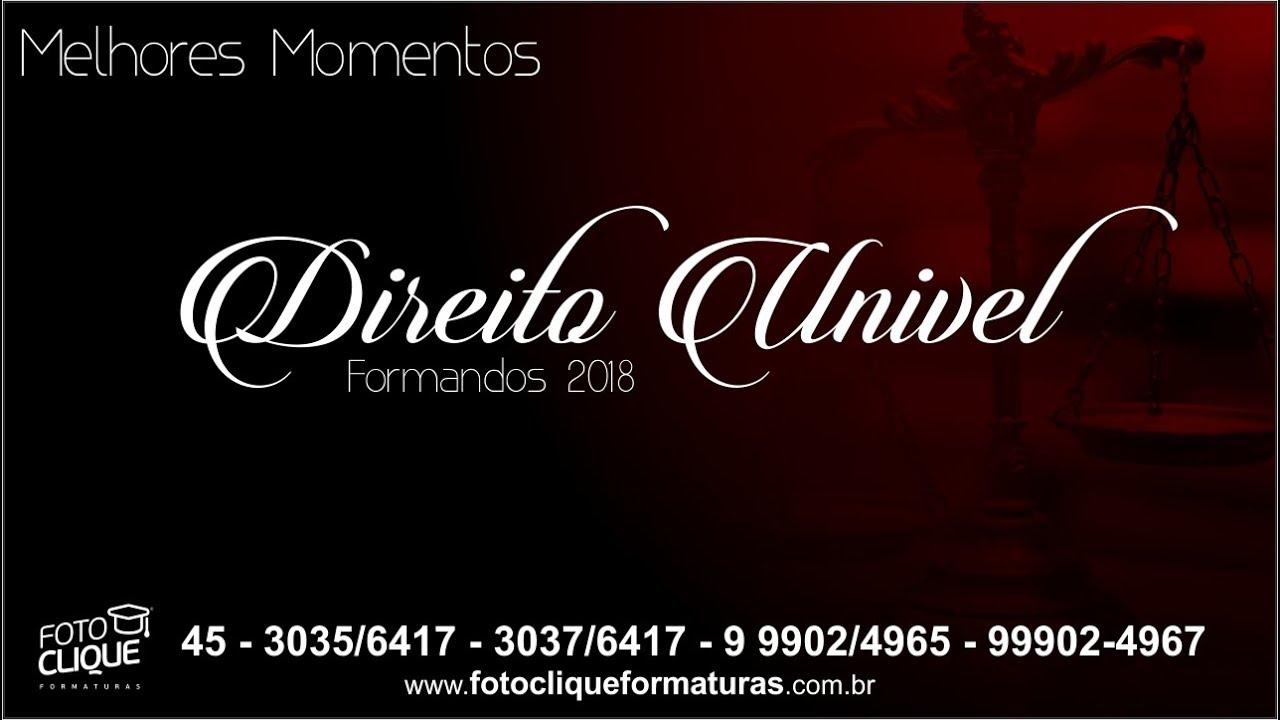 Melhores Momentos - Colação -  Direito Univel - 2019