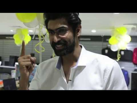 Candid with Reliance Digital ft. Rana Daggubati