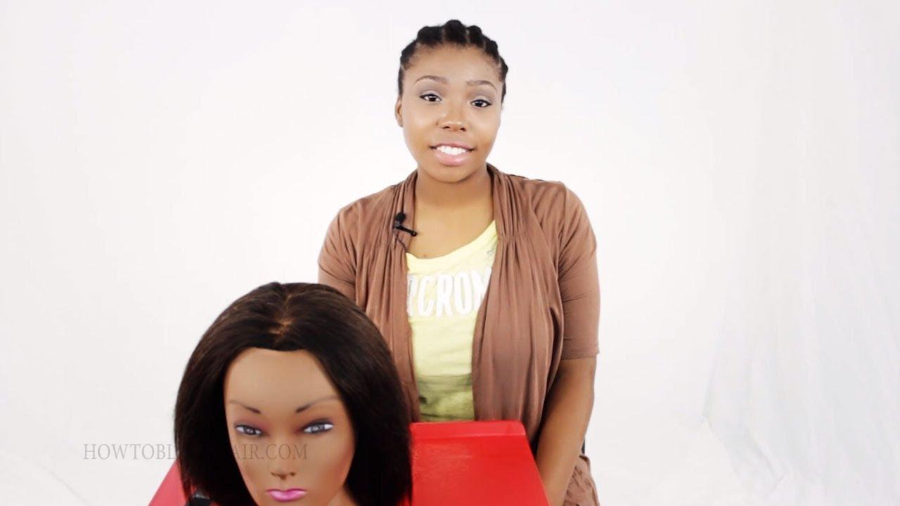Quick Weave Glue In Tracks Method On Black Women Hair Tutorial Tips