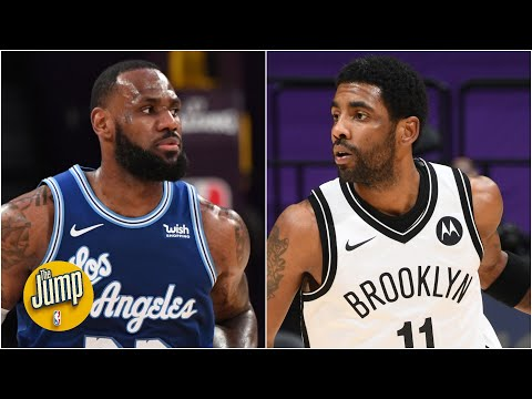Was Kyrie Irving trolling LeBron James in Nets vs. Lakers? | The Jump
