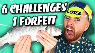 6 CHALLENGES 1 DISGUSTING FORFEIT!!!!