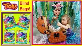 Trolls Blind Bags Found Inside Mermaid Felina & Theiya's Treasure Chest