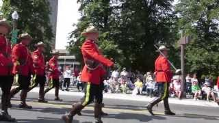 FIMMQ 2013- Military Parade. The RCMP Pipes and Drums  and Scottish Dancers.